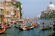 ITALY, VENICE Grand Regatta on Canal Grande