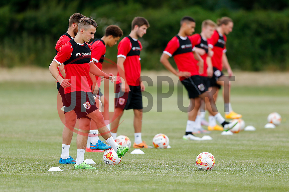 Joe Bryan in action as Bristol City return to training ahead of their 2015/16 Sky Bet Championship campaign - Photo mandatory by-line: Rogan Thomson/JMP - 07966 386802 - 01/07/2015 - SPORT - Football- Bristol, England - Failand Training Ground - Sky Bet Championship.