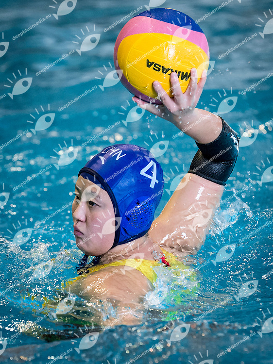 4 SUN Yujun CHN China<br /> Italy ITA (White) Vs China CHN (Blue) Women<br /> FIN Amichevole<br /> Foro italico Piscine del CONI<br /> Photo Pasquale Mesiano/Inside/Deepbluemedia
