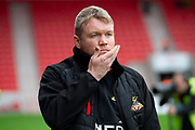 Doncaster Rovers Manager Grant McCann during the EFL Sky Bet League 1 match between Doncaster Rovers and Fleetwood Town at the Keepmoat Stadium, Doncaster, England on 6 October 2018.