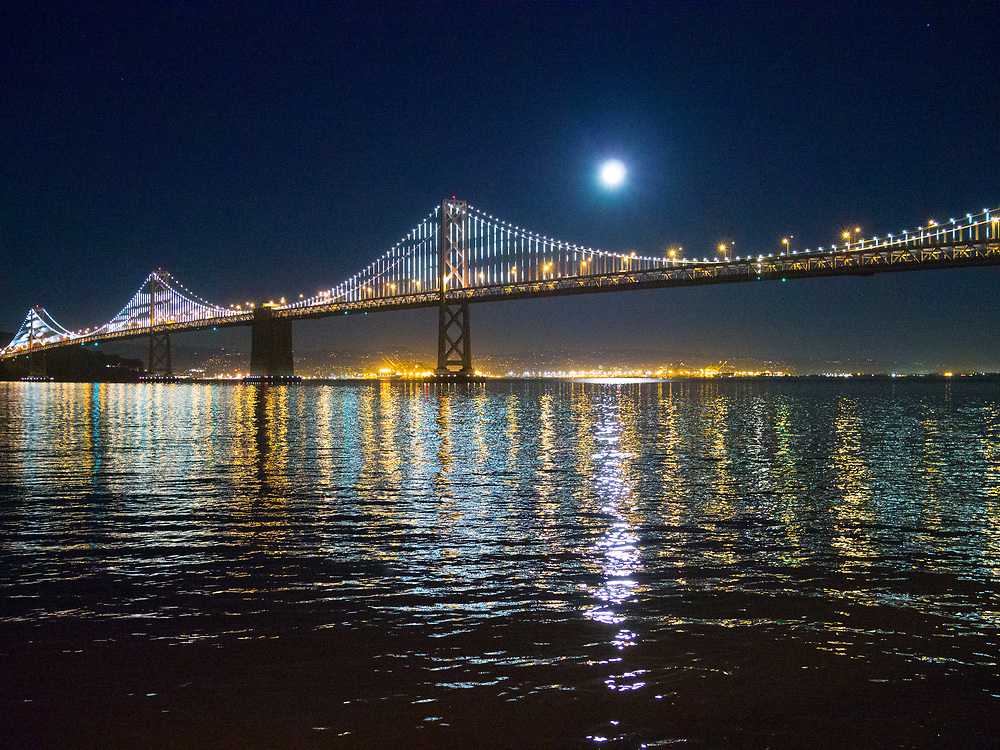 Bay Bridge, Full Moon