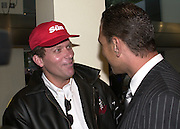 Nick Bateman  ( from Big Brother ) and Vinnie Jones.  Snatch Premiere. Odeon Leicester Sq. London. 23 Augusty 2000. <br />