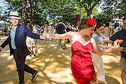 Dancers dancing to the Dreamland Orchestra at the Jazz Age Lawn Party.