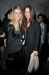 Left to right, ARABELLA LLEWELLYN and OLIVIA LLEWELLYN at a party to launch pop-up store Oxygen Boutique, 33 Duke of York Square, London SW3 on 8th February 2011.