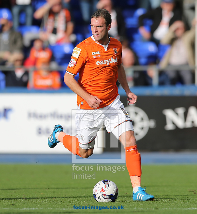 Andy Drury of Luton Town during the Sky Bet League 2 match at Victoria Park, Hartlepool<br /> Picture by Simon Moore/Focus Images Ltd 07807 671782<br /> 18/10/2014