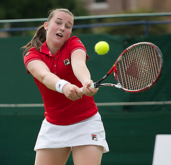 MANCHESTER, ENGLAND: Chloe Murphy (GBR) on Day 3 of the Manchester Masters Tennis Tournament at the Northern Tennis Club. (Pic by David Tickle/Propaganda)