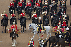 © licensed to London News Pictures. London, UK 22/03/2013. Major General George Norton CBE, Officer Commanding the Army in London and the Household Division inspects The Household Cavalry Mounted Regiment at Horse Guards Parade ahead of a busy summer of pageantry. Photo credit: Tolga Akmen/LNP