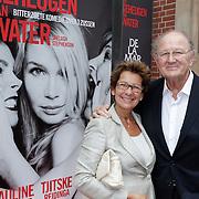 NLD/Amsterdam/20120617 - Premiere Het Geheugen van Water, Joop van der Ende en partner Janine Klijburg