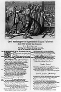 Dutch cartoon protesting Oliver Cromwell's reign by showing him as Hercules clad in a lionskin shattering the royal money barrel, symbolically ending the rule of the Long Parliament.  broadside : engraving with letterpress text.  [ca. 1653] By an unknown Dutch artist.