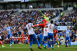 David Stockdale of Brighton & Hove Albion punches the ball clear - Mandatory by-line: Jason Brown/JMP - 29/04/2017 - FOOTBALL - Amex Stadium - Brighton, England - Brighton and Hove Albion v Bristol City - Sky Bet Championship