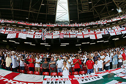 CARDIFF, WALES - SATURDAY, SEPTEMBER 3rd, 2005: England fans before the World Cup Qualifier at the Millennium Stadium. (Pic by David Rawcliffe/Propaganda)