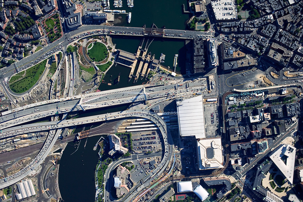 Boston - Fleet Center - Zakim Bridge - Paul Revere Park