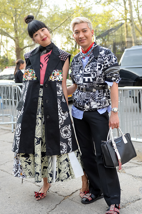 Susie Bubble and Bryanboy at Prada Resort 2019 full length
