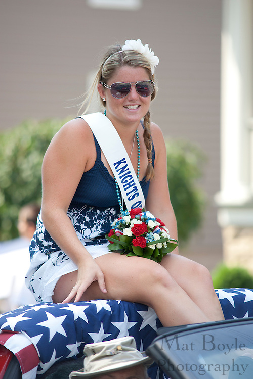 Chelsea Marie Cioffi Miss Pitman Knights of Columbus rides in the 2010 Pitman 4th of July Parade.