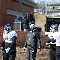 SALEM, VA - DECEMBER 13: during Stagg Bowl 45 media day at Salem Stadium on December 13, 2017 in Salem,VA. (Photo by Steve Frommell, d3photography.com)