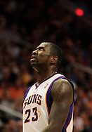 Oct. 29 2010; Phoenix, AZ, USA; Phoenix Suns guard Jason Richardson (23) reacts on the court against Los Angeles Lakers during the first half at the US Airways Center. The Lakers defeated the Suns 114-106.  Mandatory Credit: Jennifer Stewart-US PRESSWIRE.