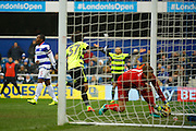 Huddersfield Town striker Isaiah Brown (37) celebrates his goal (score 0-1) during the EFL Sky Bet Championship match between Queens Park Rangers and Huddersfield Town at the Loftus Road Stadium, London, England on 11 February 2017. Photo by Andy Walter.
