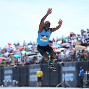 Omar Craddock, USA, in action in the Men's Triple Jump Competition during the Diamond League Adidas Grand Prix at Icahn Stadium, Randall's Island, Manhattan, New York, USA. 13th June 2015. Photo Tim Clayton