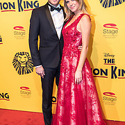 NLD/Scheveningen/20161030 - Premiere musical The Lion King, Tim Douwsma en partner Jessie Jazz Vuijk