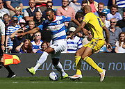 Matt Phillips (QPR midfielder) showing off some skill during the Sky Bet Championship match between Queens Park Rangers and Nottingham Forest at the Loftus Road Stadium, London, England on 12 September 2015. Photo by Matthew Redman.