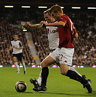 Bjørn Helge Riise of Fulham and brother John Arne Riise , Roma<br /> <br /> Fulham FC vs AS Roma UEFA Europa League Group E 22/10/09