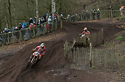 Herlings leads Coldenhoff near the end of moto 1.