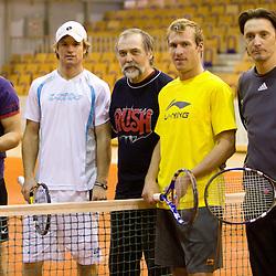 20110228: SLO, Tennis - Blaz Kavcic, Grega Zemlja, Jure Kosir and Miran Pavlin at tennis exhibition