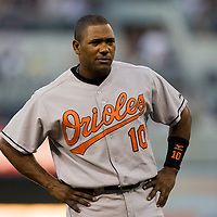20 June 2007: Baltimore Orioles shortstop Miguel Tejada rests during the Baltimore Orioles 7-1 victory over the San Diego Padres at Petco Park in San Diego, CA.