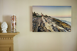 &quot;Pemaquid Sunset - Print&quot; at 24&quot;x16&quot; on Matte Aluminum Metal, Float-mount frame.<br /> <br /> http://www.btruono.com/image/I0000rz7L0wr0ab4<br />  <br /> Please contact me for custom print sizes and framing: http://www.btruono.com/#!/contact