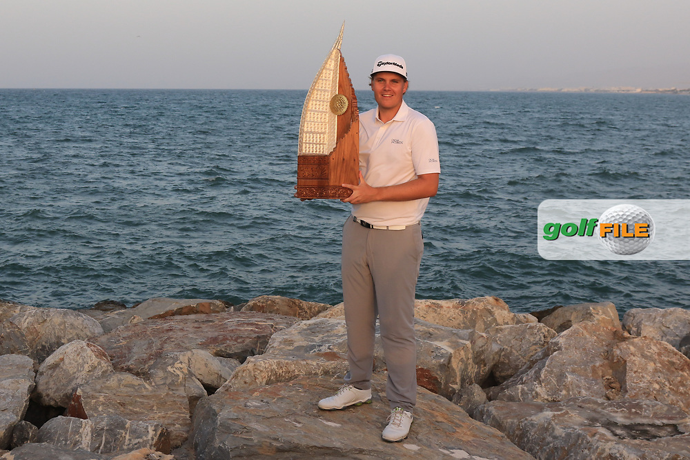 Sami Valimaki (FIN) winner of the Oman Open 2020 at the Al Mouj Golf Club, Muscat, Oman . 01/03/2020<br /> Picture: Golffile   Thos Caffrey<br /> <br /> <br /> All photo usage must carry mandatory copyright credit (© Golffile   Thos Caffrey)