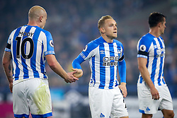 Alex Pritchard of Huddersfield Town high fives Aaron Mooy of Huddersfield Town - Mandatory by-line: Robbie Stephenson/JMP - 05/11/2018 - FOOTBALL - John Smith's Stadium - Huddersfield, England - Huddersfield Town v Fulham - Premier League