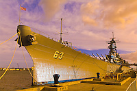 Battleship Missouri, Ford Island, Pearl Harbor, Honolulu, Oahu, Hawaii, USA