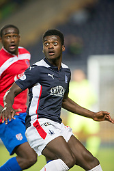 Falkirk's Botti Biabi.<br /> Falkirk beat Cowdenbeath in a penalty shoot-out, second round League Cup tie played at The Falkirk Stadium.