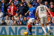Lee Wallace of Rangers FC makes his long awaited return to 1st team football during the Ladbrokes Scottish Premiership match between Rangers and Aberdeen at Ibrox, Glasgow, Scotland on 27 April 2019.