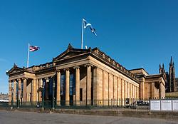 Exterior of Scottish National Gallery art museum in Edinburgh, Scotland, UK