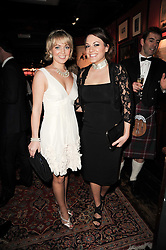 Left to right, newsreader ISLA TRAQUAIR and MELANIE CRUMP at the Johnnie Walker Blue Label Great Scot Award 2010 in association with The Spectator and Boisdale held at Boisdale of Belgravia, 22 Ecclestone Street, London SW1 on 24th February 2010.