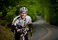 A doctor who is an avid cyclist photographed at Morrow Mountain in North Carolina for Stanly Regional Hospital.