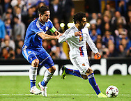 Picture by Daniel Chesterton/Focus Images Ltd +44 7966 018899<br /> 18/09/2013<br /> Mohamed Salah of FC Basel and Frank Lampard of Chelsea compete for the ball during the UEFA Champions League match at Stamford Bridge, London.