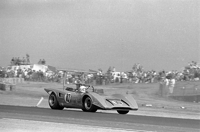 Chuck Parsons in a Lola T163 at the 1969 Riverside Can-Am