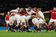 The England maul during the Rugby World Cup Pool A match between England and Wales at Twickenham, Richmond, United Kingdom on 26 September 2015. Photo by David Charbit.