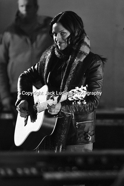Scottish Singer Amy Macdonald Pictured during Sound check for The One Show BBC 03/02/2017