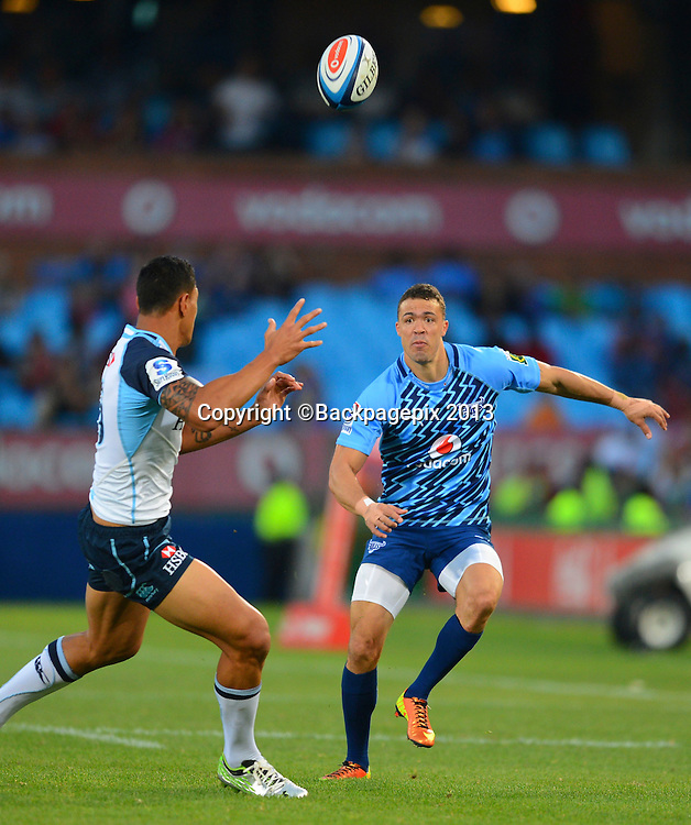 Bjorn Basson of the Bulls <br /> during the Super Rugby match between the Bulls and the Waratahs played at Loftus Versfeld in Pretoria on April 27, 2013&copy;Barry Aldworth/BackpagePix