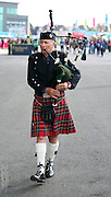 Bag piper trying to get the crowd in the mood during the Rugby World Cup Quarter Final match between Australia and Scotland at Twickenham, Richmond, United Kingdom on 18 October 2015. Photo by Matthew Redman.