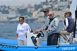 Umpires keeping am eye on competing skippers in the dial up. Photo:Chris Davies/WMRT