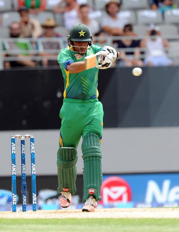 Pakistan's Babar Azam batting against New Zealand in the 3rd ODI International Cricket match at Eden Park, Auckland, New Zealand, Sunday, January 31, 2016. Credit:SNPA / Ross Setford