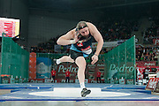 Tomasz Majewski of Poland competes at men's shot put during athletics meeting Pedro's Cup 2014 2014 at Luczniczka Hall in Bydgoszcz, Poland.<br /> <br /> Poland, Bydgoszcz, January 31, 2014.<br /> <br /> Picture also available in RAW (NEF) or TIFF format on special request.<br /> <br /> For editorial use only. Any commercial or promotional use requires permission.<br /> <br /> Mandatory credit:<br /> Photo by &copy; Adam Nurkiewicz / Mediasport