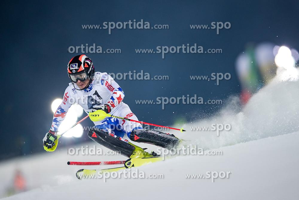24.01.2017, Planai, Schladming, AUT, FIS Weltcup Ski Alpin, Schladming, Slalom, Herren, 1. Lauf, im Bild Alexander Khoroshilov (RUS) // Alexander Khoroshilov of Russian Federation in action during his 1st run of men's Slalom of FIS ski alpine world cup at the Planai in Schladming, Austria on 2017/01/24. EXPA Pictures © 2017, PhotoCredit: EXPA/ Johann Groder