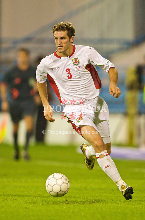 PODGORICA, MONTENEGRO - Wednesday, August 12, 2009: Wales' Sam Ricketts in action against Montenegro during an international friendly match at the Gradski Stadion. (Photo by David Rawcliffe/Propaganda)