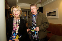 "19/7/2011. Sabina and Daniel Higgins in McSwiggans for the pre show reception of Propellors ""Comedy of Errors"" by Shakspeare in the Galway Arts Festival, sponsored by Ulster Bank. Photo:Andrew Downes"