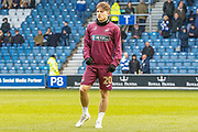 Swansea City midfielder Daniel James (20) warming up before the EFL Sky Bet Championship match between Queens Park Rangers and Swansea City at the Loftus Road Stadium, London, England on 13 April 2019.